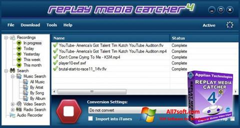 Screenshot Replay Media Catcher per Windows 7