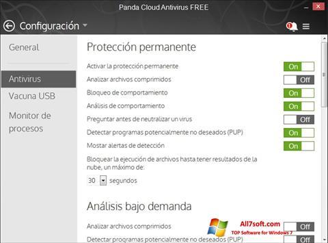 Screenshot Panda Cloud per Windows 7