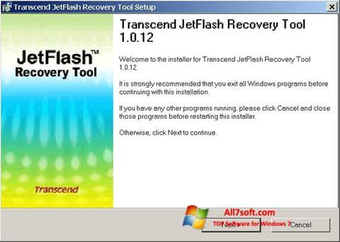 Screenshot JetFlash Recovery Tool per Windows 7