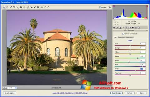 Screenshot Adobe Camera Raw per Windows 7
