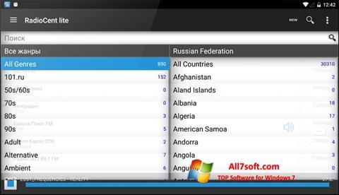 Screenshot Radiocent per Windows 7