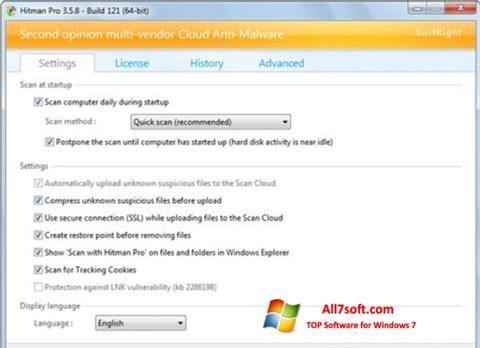 Screenshot HitmanPro per Windows 7