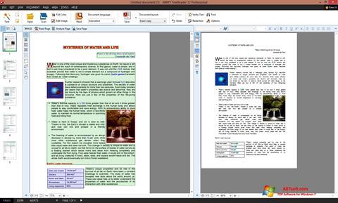 Screenshot ABBYY FineReader per Windows 7