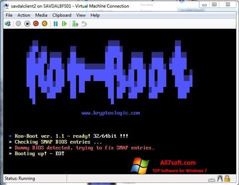 Screenshot Kon-Boot per Windows 7