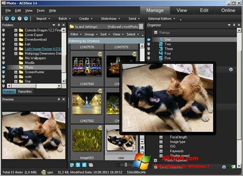 Screenshot ACDSee Photo Manager per Windows 7
