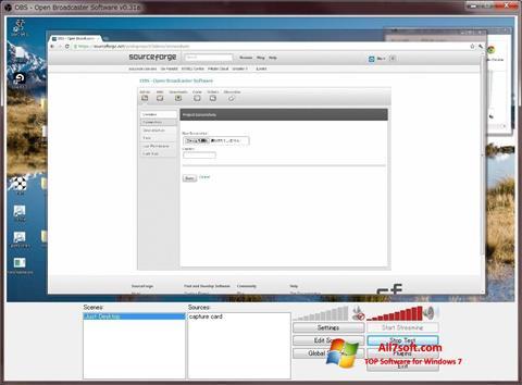 Screenshot Open Broadcaster Software per Windows 7