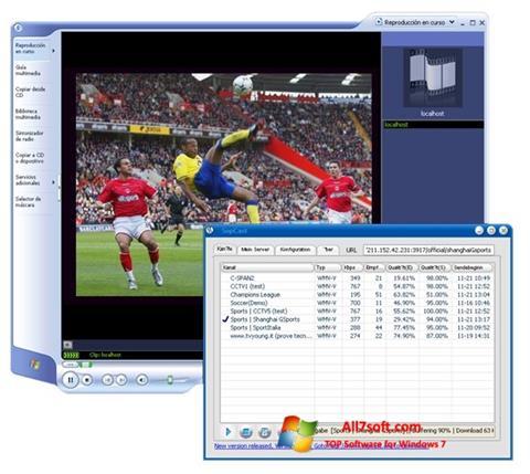 Screenshot SopCast per Windows 7