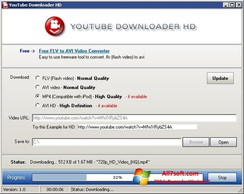 Screenshot Youtube Downloader HD per Windows 7