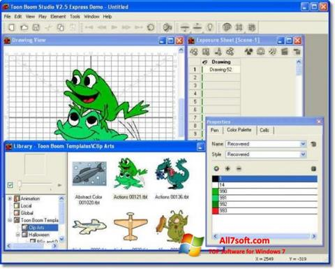 Screenshot Toon Boom Studio per Windows 7