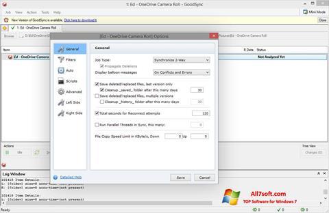 Screenshot GoodSync per Windows 7