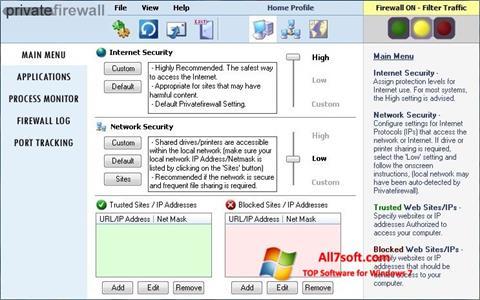 Screenshot Privatefirewall per Windows 7