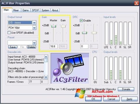 Screenshot AC3Filter per Windows 7