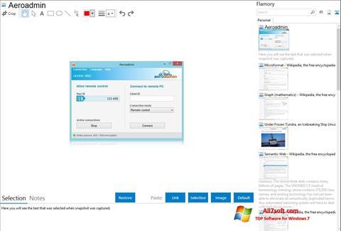 Screenshot AeroAdmin per Windows 7