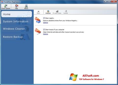 Screenshot TweakNow RegCleaner per Windows 7