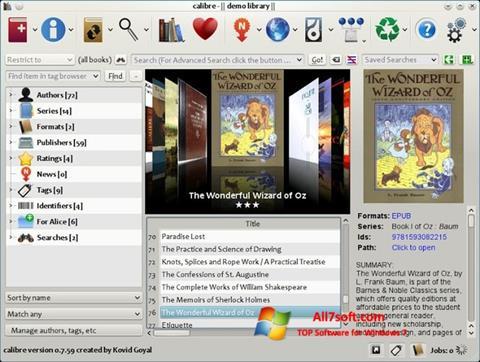 Screenshot Calibre per Windows 7