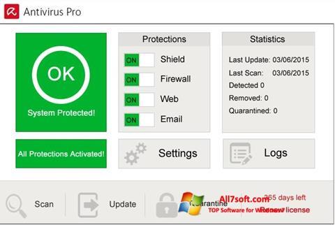 Screenshot Avira Antivirus Pro per Windows 7