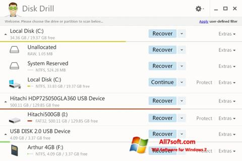 Screenshot Disk Drill per Windows 7