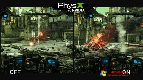 Screenshot NVIDIA PhysX per Windows 7