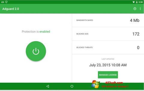 Screenshot Adguard per Windows 7