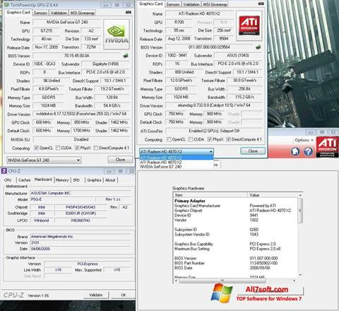 Screenshot GPU-Z per Windows 7