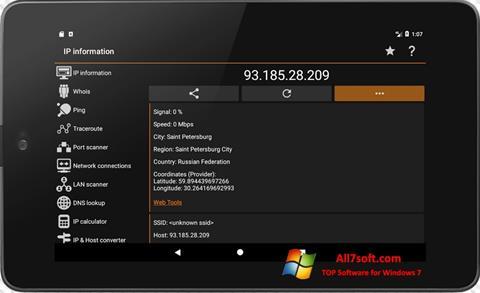 Screenshot IP Tools per Windows 7