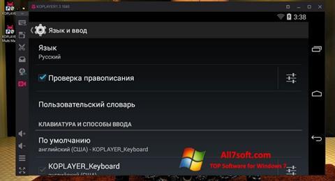 Screenshot KOPLAYER per Windows 7
