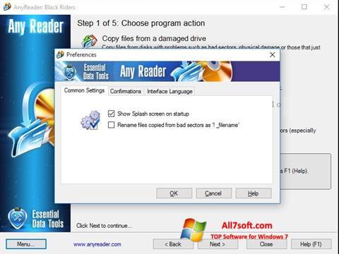 Screenshot AnyReader per Windows 7