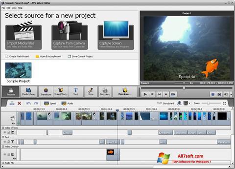 Screenshot AVS Video Editor per Windows 7