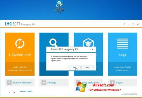 Screenshot Emsisoft Emergency Kit per Windows 7