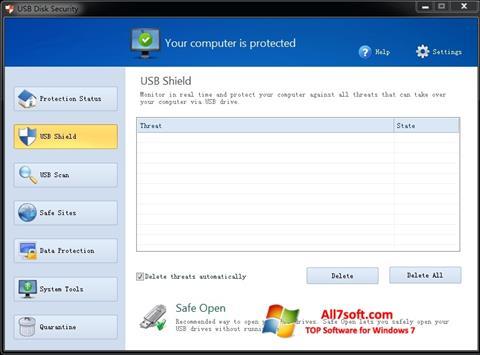 Screenshot USB Disk Security per Windows 7
