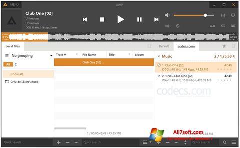 Screenshot AIMP per Windows 7