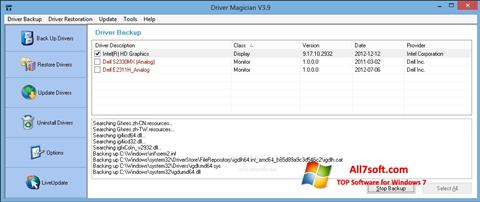 Screenshot Driver Magician per Windows 7