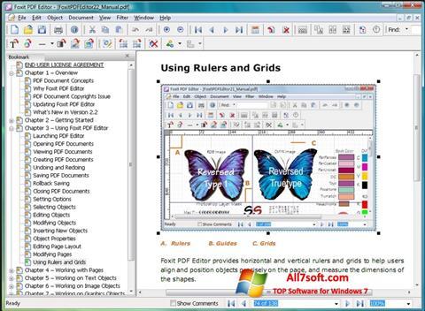 Screenshot Foxit Advanced PDF Editor per Windows 7