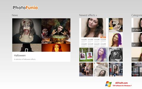 Screenshot PhotoFunia per Windows 7