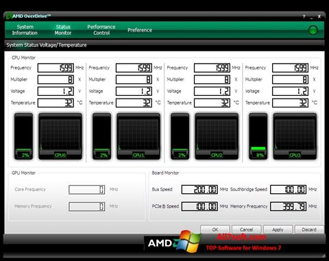 Screenshot AMD Overdrive per Windows 7