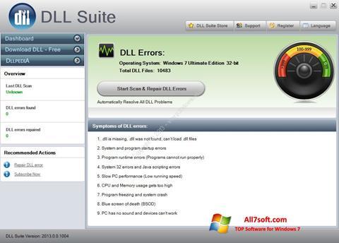 Screenshot DLL Suite per Windows 7