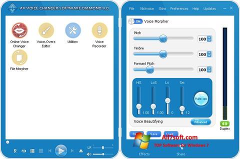 Screenshot AV Voice Changer Diamond per Windows 7