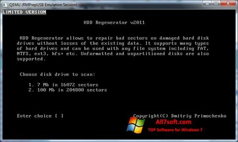 Screenshot HDD Regenerator per Windows 7