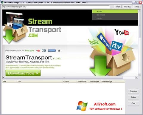 Screenshot StreamTransport per Windows 7
