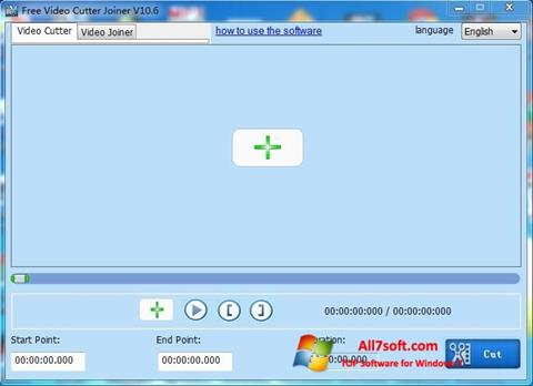 Screenshot Free Video Cutter per Windows 7
