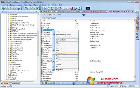 Screenshot Remote Administration Tool per Windows 7