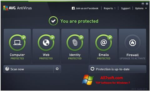 Screenshot AVG AntiVirus Pro per Windows 7
