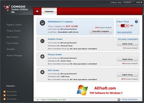 Screenshot Comodo System Utilities per Windows 7