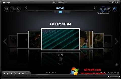 Screenshot KMPlayer per Windows 7
