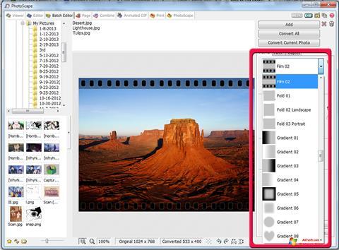 Screenshot PhotoScape per Windows 7
