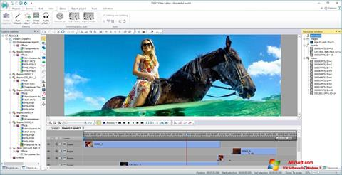 Screenshot VSDC Free Video Editor per Windows 7