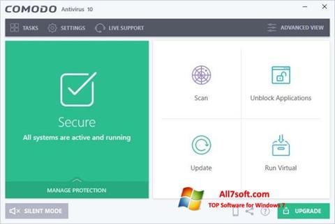 Screenshot Comodo Antivirus per Windows 7