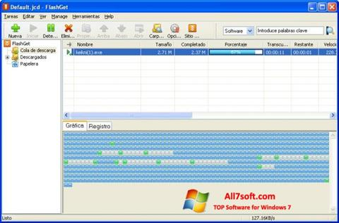 Screenshot FlashGet per Windows 7